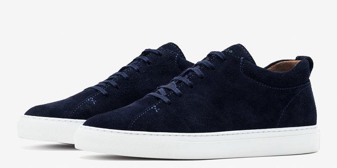 Prussian Blue Suede Tarmac Sneakers C.QP SZoBB